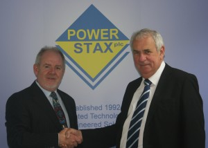 Tim Worley, CEO of Powerstax plc and Peter Williams, Managing Director of DP Energy Services Ltd