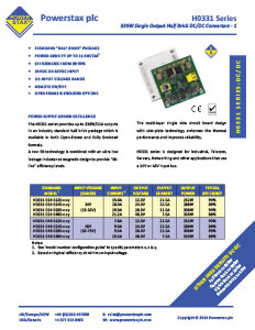 Click here for Powerstax H0331 Series datasheet