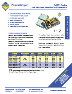Click here for Powerstax Q0301 Series datasheet