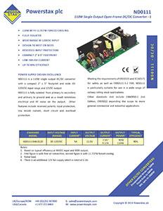 Click here for Powerstax ND0111 Series datasheet